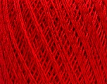 Ne: 10/3 +600d. Viscose. Nm: 17/3 Fiber Content 72% Mercerised Cotton, 28% Viscose, Red, Brand Ice Yarns, Yarn Thickness 1 SuperFine  Sock, Fingering, Baby, fnt2-49868
