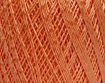 Ne: 10/3 +600d. Viscose. Nm: 17/3 Fiber Content 72% Mercerised Cotton, 28% Viscose, Light Orange, Brand ICE, Yarn Thickness 1 SuperFine  Sock, Fingering, Baby, fnt2-49871