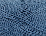 Please note that the yarn weight and the ball length may vary from one color to another for this yarn. Fasergehalt 100% Baumwolle, Jeans Blue, Brand Ice Yarns, Yarn Thickness 3 Light  DK, Light, Worsted, fnt2-49959