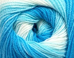 . Fiber Content 100% Baby Acrylic, White, Brand Ice Yarns, Blue Shades, Yarn Thickness 2 Fine  Sport, Baby, fnt2-49996