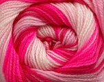 . Fiber Content 100% Baby Acrylic, Pink Shades, Neon Pink, Brand Ice Yarns, Yarn Thickness 2 Fine  Sport, Baby, fnt2-49998