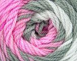 . Fiber Content 100% Baby Acrylic, White, Pink, Brand Ice Yarns, Grey, Yarn Thickness 2 Fine  Sport, Baby, fnt2-50002