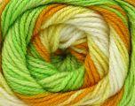 . Fiber Content 100% Baby Acrylic, Yellow, White, Orange, Brand Ice Yarns, Green, Yarn Thickness 2 Fine  Sport, Baby, fnt2-50004