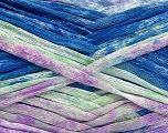 Fiber Content 100% Acrylic, Mint Green, Lilac, Brand Ice Yarns, Blue Shades, Yarn Thickness 4 Medium  Worsted, Afghan, Aran, fnt2-50216