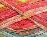 Fiber Content 100% Acrylic, Salmon Shades, Light Turquoise, Brand Ice Yarns, Green Shades, Yarn Thickness 4 Medium  Worsted, Afghan, Aran, fnt2-50217
