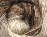 Fiber Content 60% Premium Acrylic, 20% Mohair, 20% Wool, Brand ICE, Cream, Brown Shades, Yarn Thickness 2 Fine  Sport, Baby, fnt2-50293