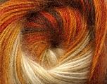 Fiber Content 60% Premium Acrylic, 20% Mohair, 20% Wool, Orange, Brand ICE, Gold, Cream, Brown, Yarn Thickness 2 Fine  Sport, Baby, fnt2-50294