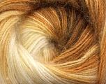 Fiber Content 60% Premium Acrylic, 20% Wool, 20% Mohair, Brand Ice Yarns, Cream, Camel, Brown, Yarn Thickness 2 Fine  Sport, Baby, fnt2-50295
