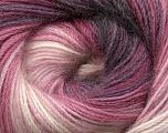 Fiber Content 60% Premium Acrylic, 20% Wool, 20% Mohair, White, Purple, Orchid, Brand Ice Yarns, Black, Yarn Thickness 2 Fine  Sport, Baby, fnt2-50302