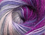 Fiber Content 60% Premium Acrylic, 20% Wool, 20% Mohair, Purple, Lilac, Lavender, Brand Ice Yarns, Fuchsia, Yarn Thickness 2 Fine  Sport, Baby, fnt2-50303