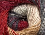 Fiber Content 57% Premium Acrylic, 3% Metallic Lurex, 20% Mohair, 20% Wool, Red, Brand Ice Yarns, Grey, Cream, Burgundy, Yarn Thickness 2 Fine  Sport, Baby, fnt2-50307