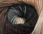 Fiber Content 57% Premium Acrylic, 3% Metallic Lurex, 20% Mohair, 20% Wool, Brand Ice Yarns, Grey Shades, Brown Shades, Yarn Thickness 2 Fine  Sport, Baby, fnt2-50315