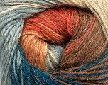 Fiber Content 57% Premium Acrylic, 3% Metallic Lurex, 20% Wool, 20% Mohair, Teal, Salmon, Light Blue, Brand Ice Yarns, Camel, Yarn Thickness 2 Fine  Sport, Baby, fnt2-50320