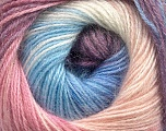 Fiber Content 57% Premium Acrylic, 3% Metallic Lurex, 20% Wool, 20% Mohair, White, Pink, Lilac, Brand ICE, Blue, Yarn Thickness 2 Fine  Sport, Baby, fnt2-50326