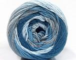 Fiber Content 100% Cotton, Brand Ice Yarns, Grey, Blue Shades, Yarn Thickness 3 Light  DK, Light, Worsted, fnt2-50556