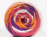 Fiber Content 100% Cotton, White, Salmon, Purple, Orange, Brand Ice Yarns, Yarn Thickness 3 Light  DK, Light, Worsted, fnt2-50562
