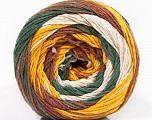 Fiber Content 100% Cotton, White, Khaki, Brand Ice Yarns, Gold, Brown, Yarn Thickness 3 Light  DK, Light, Worsted, fnt2-50564