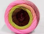 Fiber Content 90% Acrylic, 10% Polyamide, Pink, Light Green, Brand Ice Yarns, Burgundy, Yarn Thickness 4 Medium  Worsted, Afghan, Aran, fnt2-50660