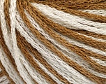 Fiber Content 100% Acrylic, White, Light Brown, Brand Ice Yarns, Yarn Thickness 3 Light  DK, Light, Worsted, fnt2-50811