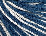 Fiber Content 100% Acrylic, White, Brand Ice Yarns, Blue, Yarn Thickness 3 Light  DK, Light, Worsted, fnt2-50812