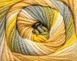 Fiber Content 100% Acrylic, Yellow, White, Brand Ice Yarns, Grey, Beige, Yarn Thickness 3 Light  DK, Light, Worsted, fnt2-51097