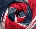 Fiber Content 100% Acrylic, White, Red, Navy, Brand Ice Yarns, Grey, Yarn Thickness 3 Light  DK, Light, Worsted, fnt2-51098