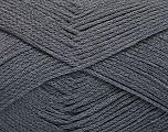 Fiber Content 100% Cotton, Brand ICE, Dark Grey, Yarn Thickness 2 Fine  Sport, Baby, fnt2-51099