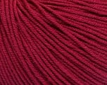 Fiber Content 60% Cotton, 40% Acrylic, Brand ICE, Burgundy, Yarn Thickness 2 Fine  Sport, Baby, fnt2-51210