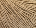 Fiber Content 60% Cotton, 40% Acrylic, Brand Ice Yarns, Beige, Yarn Thickness 2 Fine  Sport, Baby, fnt2-51218
