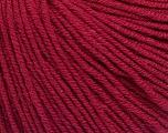 Fiber Content 60% Cotton, 40% Acrylic, Brand Ice Yarns, Burgundy, Yarn Thickness 2 Fine  Sport, Baby, fnt2-51228
