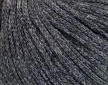 Fiber Content 50% Wool, 38% Acrylic, 12% Metallic Lurex, Silver, Brand Ice Yarns, Grey, Yarn Thickness 4 Medium  Worsted, Afghan, Aran, fnt2-51370