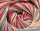 Fiber Content 100% Cotton, Light Pink, Light Grey, Brand Ice Yarns, Fuchsia, Cream, Yarn Thickness 2 Fine  Sport, Baby, fnt2-51435