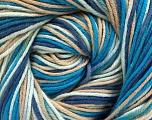 Fiber Content 100% Cotton, Brand Ice Yarns, Blue Shades, Beige, Yarn Thickness 2 Fine  Sport, Baby, fnt2-51436
