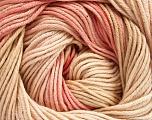 Fiber Content 100% Cotton, Pink Shades, Brand Ice Yarns, Cream, Yarn Thickness 2 Fine  Sport, Baby, fnt2-51440