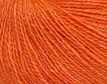 Fiber Content 65% Merino Wool, 35% Silk, Orange, Brand ICE, Yarn Thickness 1 SuperFine  Sock, Fingering, Baby, fnt2-51507
