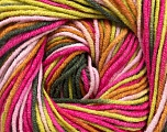 Fiber Content 55% Cotton, 45% Acrylic, Pink Shades, Brand ICE, Green Shades, Brown, Yarn Thickness 3 Light  DK, Light, Worsted, fnt2-51509