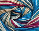 Fiber Content 100% Cotton, White, Turquoise Shades, Brand Ice Yarns, Fuchsia, Cream, Yarn Thickness 2 Fine  Sport, Baby, fnt2-51519