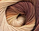 Fiber Content 100% Cotton, Brand Ice Yarns, Cream, Brown Shades, Yarn Thickness 2 Fine  Sport, Baby, fnt2-51539