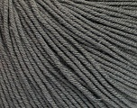 Fiber Content 60% Cotton, 40% Acrylic, Brand ICE, Grey, Yarn Thickness 2 Fine  Sport, Baby, fnt2-51557