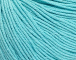 Fiber Content 60% Cotton, 40% Acrylic, Light Turquoise, Brand Ice Yarns, Yarn Thickness 2 Fine  Sport, Baby, fnt2-51558
