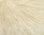 Fiber Content 40% Acrylic, 20% Polyamide, 20% Mohair, 20% Wool, Brand Ice Yarns, Cream, fnt2-51891