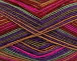 Fiber Content 75% Superwash Wool, 25% Polyamide, Purple, Light Brown, Khaki, Brand ICE, Fuchsia, Burgundy, Yarn Thickness 1 SuperFine  Sock, Fingering, Baby, fnt2-51910