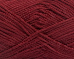 Baby cotton is a 100% premium giza cotton yarn exclusively made as a baby yarn. It is anti-bacterial and machine washable! Fiber Content 100% Giza Cotton, Brand Ice Yarns, Burgundy, Yarn Thickness 3 Light  DK, Light, Worsted, fnt2-51953