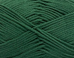 Baby cotton is a 100% premium giza cotton yarn exclusively made as a baby yarn. It is anti-bacterial and machine washable! Fiber Content 100% Giza Cotton, Brand Ice Yarns, Dark Green, Yarn Thickness 3 Light  DK, Light, Worsted, fnt2-51955