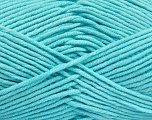 Fiber Content 55% Cotton, 45% Acrylic, Light Turquoise, Brand Ice Yarns, Yarn Thickness 4 Medium  Worsted, Afghan, Aran, fnt2-52025