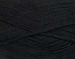 Very thin yarn. It is spinned as two threads. So you will knit as two threads. Yardage information is for only one strand. Fiber Content 100% Acrylic, Brand Ice Yarns, Black, Yarn Thickness 1 SuperFine  Sock, Fingering, Baby, fnt2-52040