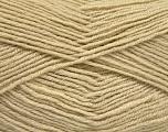 Fiber Content 55% Virgin Wool, 5% Cashmere, 40% Acrylic, Brand ICE, Beige, Yarn Thickness 2 Fine  Sport, Baby, fnt2-52127