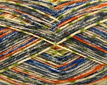 Fiber Content 75% Superwash Wool, 25% Polyamide, Orange, Brand ICE, Grey, Green, Cream, Blue, Yarn Thickness 1 SuperFine  Sock, Fingering, Baby, fnt2-52156