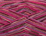 Fiber Content 50% Superwash Merino Wool, 25% Bamboo, 25% Polyamide, Pink Shades, Lilac, Brand ICE, Brown, Yarn Thickness 1 SuperFine  Sock, Fingering, Baby, fnt2-52244