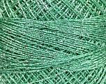 Fiber Content 70% Polyester, 30% Metallic Lurex, Brand YarnArt, Silver, Mint Green, Yarn Thickness 0 Lace  Fingering Crochet Thread, fnt2-52253